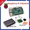 Raspberry Pi 3 Model B 1.2GHz 1GB RAM WiFi & Bluetooth + Heatsinks + ABS Black Case