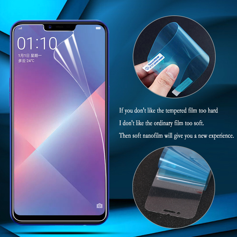 Fintorp Nano Explosion-proof Film For OPPO F5 F3 F1 A8S A7 A59 A57 A5 A39 A37 A3 Screen Protector Guard (Not tempered glass)