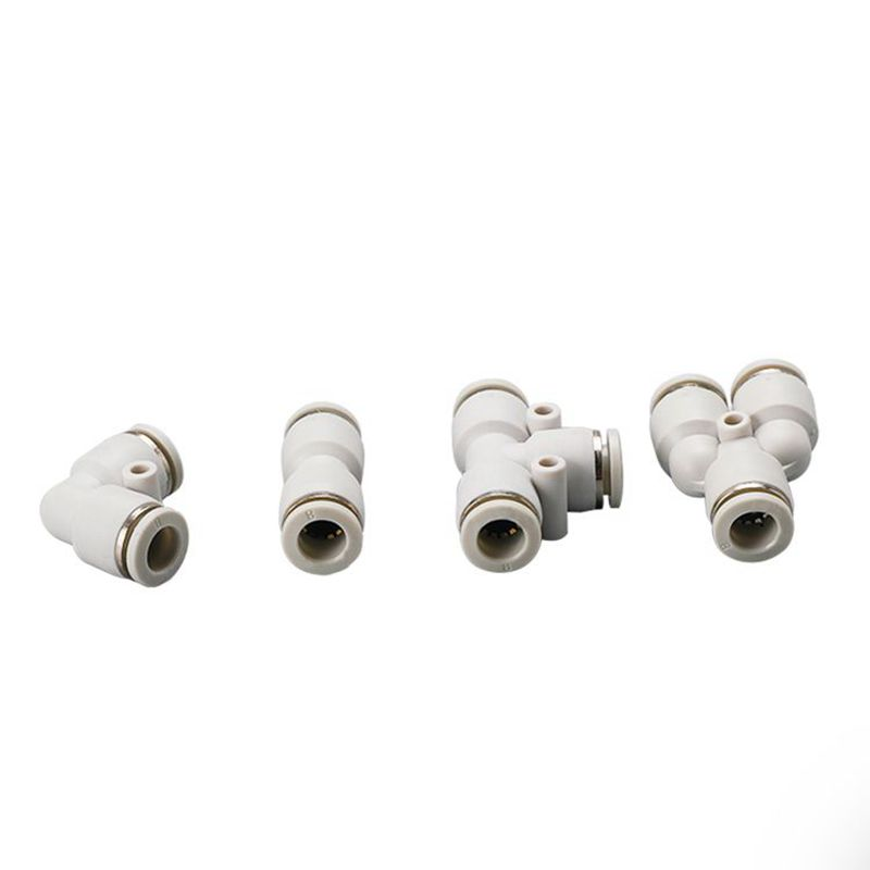 PU-12 Plastic Pneumatic White <font><b>Air</b></font> Quick <font><b>Connector</b></font> Element 12mm to 12mm One Touch Push Straight In Pipe <font><b>Fitting</b></font> Parts image