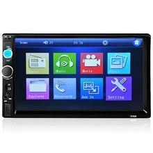 2016 Promoción Grande Universal 2DIN Coche Reproductor de Vídeo de Pantalla Táctil Reproductor MP5 Bluetooth FM AUX USB Doble DIN Car Multimedia jugador
