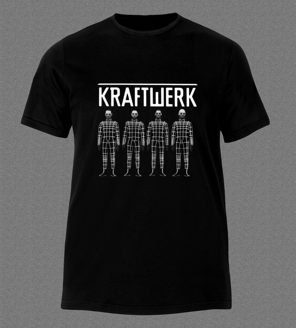T Shirt Homme 2018 New Graphic Crew Neck Kraftwerk Band Electronic Art Pop Short Sleeve Tees For Men