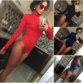 4 color xl plus size Fashion Autumn Winter Knitted Sexy Long Sleeve thumb Hollow out Bottoming High neck women bodysuit