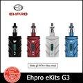 New Original Ehpro eKits G3 Starter kit 80W  ehpro ekits g3 kit APD A8 TC Mod 4000mAh 3ml Tank support TC(Ni.Ti)/VC/PC e cig(MM)