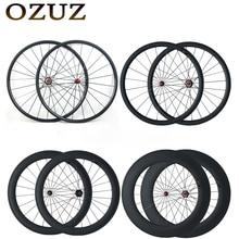 OZUZ Straight Pull Carbon Wheels 24mm 38mm 50mm 60mm 88mm Clincher Tubular Road Bike Bicycle Wheel Powerway R36 Hub Wheelset