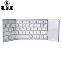 ALANGDUO Bluetooth Foldable Mini Wireless Keyboard With Touch Pad For Desktop Laptop Computer Tablet Video Gaming