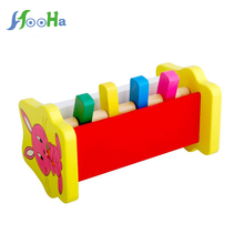 Wooden Toys Percussion Game Children's Educational Toys Animals Beat Villain For Kids Free Shopping