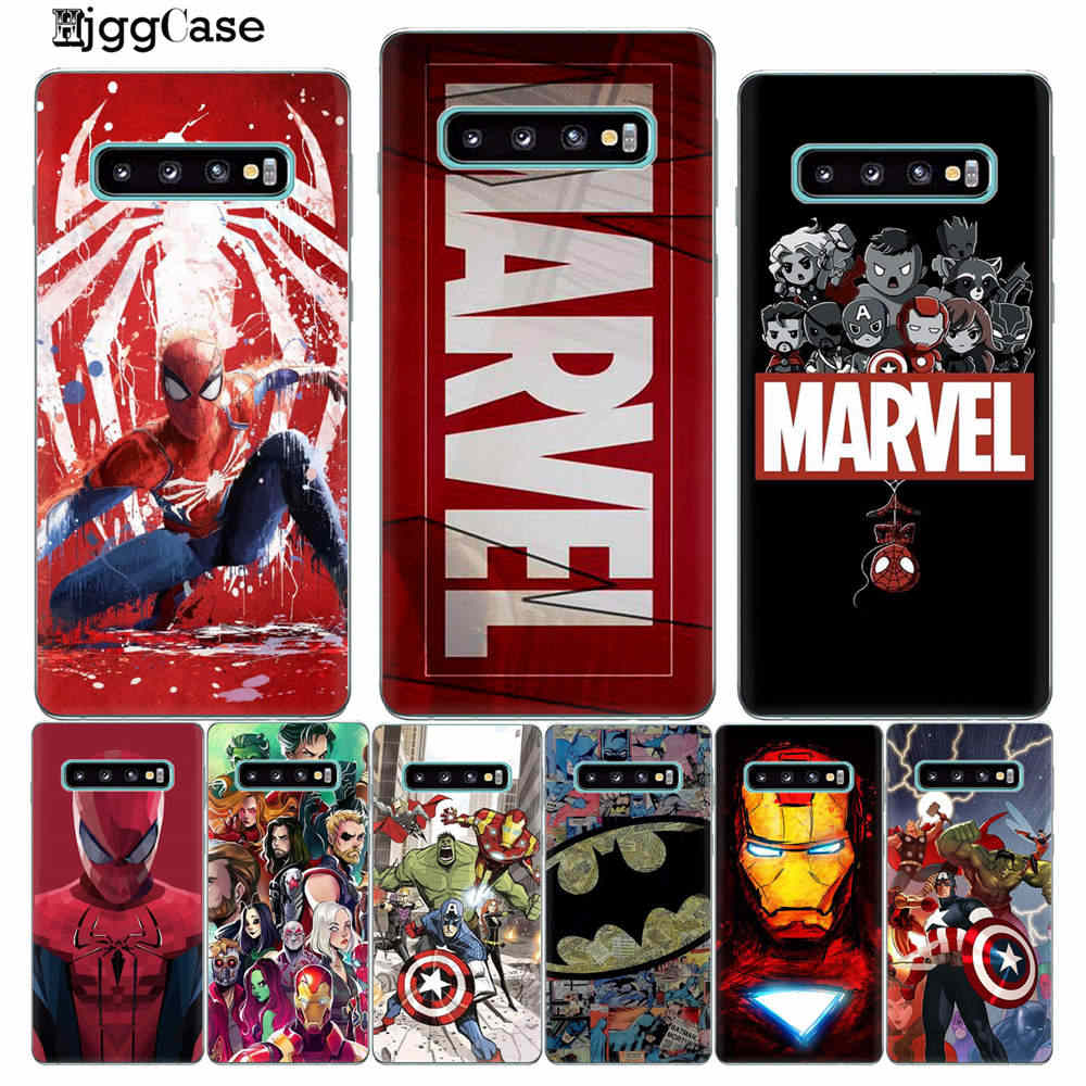 Marvel Avengers Heros Comics Collage Phone Case For Coque Samsung S10Plus S10E S10 Lite 5G +S8 S9 Plus TPU Case Cover Phone Bags