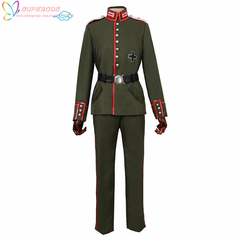 Saga of Tanya the Evil Erich von Rerugen Coat Pants Suit Cosplay Costume ,Perfect Custom For you!