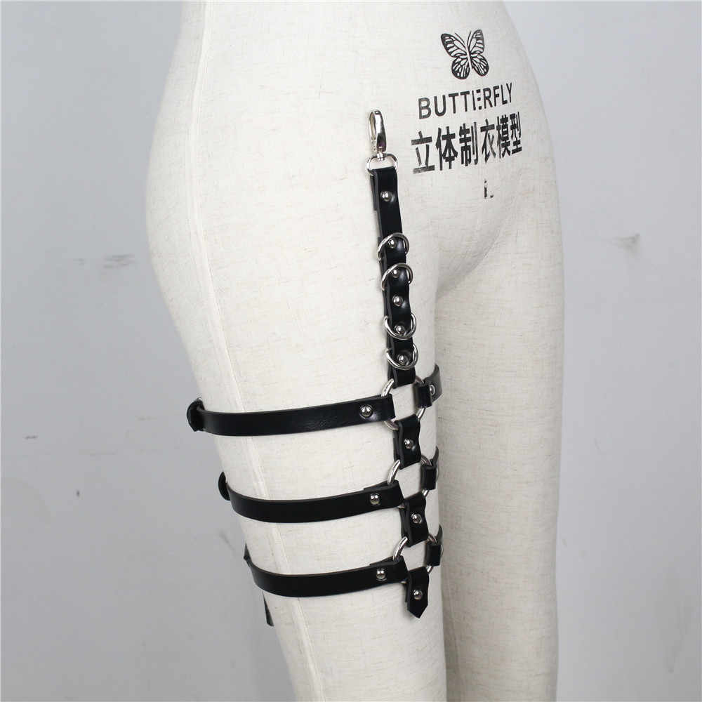 CEA.HARNESS Fashion Single Leg Garters Harness Belt Sexy Metal Clip Suspenders BDSM Accessories Prom Dress Strappy Casual Belts