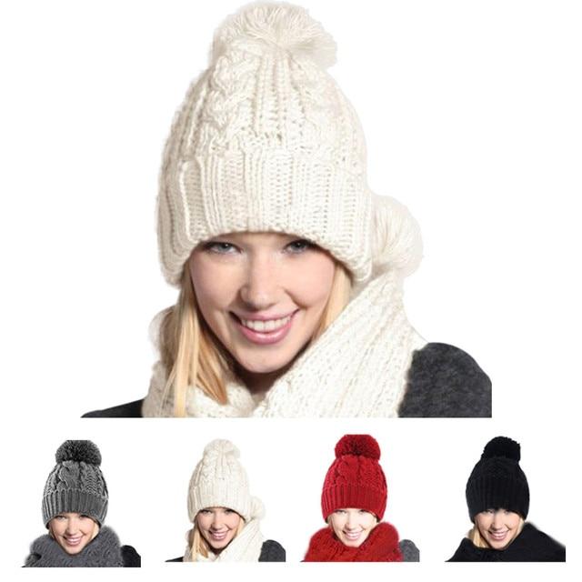 8eb446483edd8 FEITONG 2017 New Knitted Winter Hat Scarf Beanies Knit Men s Winter Hats  Caps Skullies Bonnet For Men Women Beanie Casual Warmer