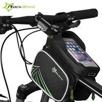 ROCKBROS Bicycle Frame Front Bag Head Rainproof Bike For 5 8 6 2 Inch Smart Phone
