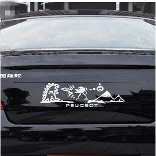 [WZH005] auto styling Fight Monsters Sticker reflecterende auto - Motoraccessoires en onderdelen - Foto 2
