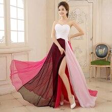 Elegante Abendkleid Trägerlosen Pfau Formal Lange Abendkleider Zip Zurück Partei Graduierung Kleider robe de soiree