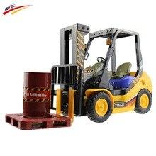 Rc camiones forlift 6ch control remoto simulación modelo de carretilla elevadora 4 rueda de carro de la ingeniería carretilla elevadora electrónica toys