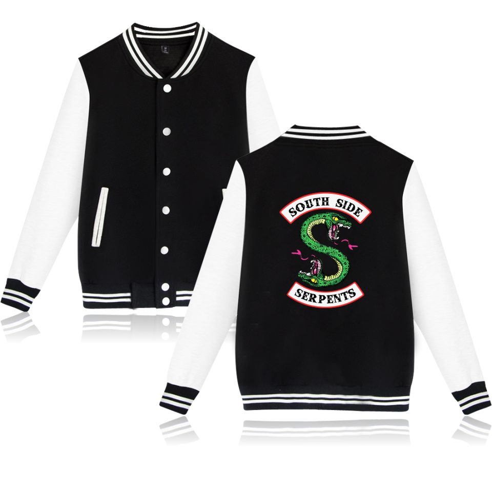 BTS Winter Jacket American TV Riverdale Women Fashion Jacket South Side Mens Female Fans Casual Baseball Jacket XXS-4XL Clothes