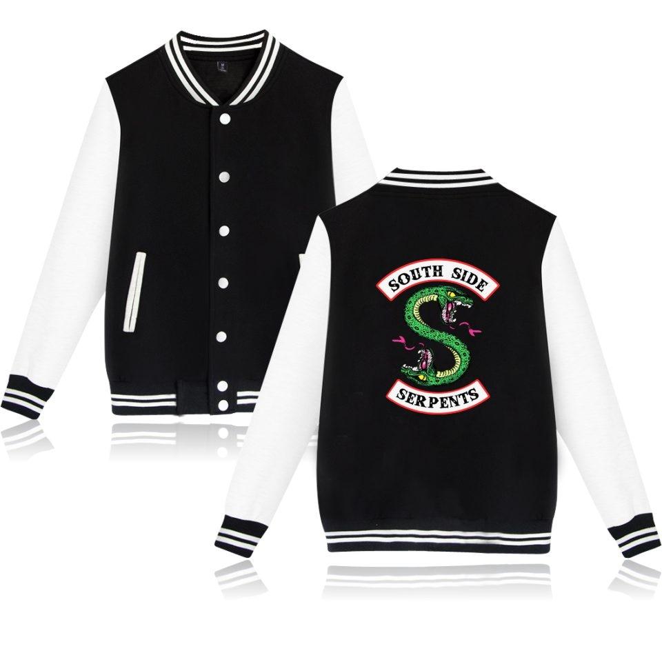 Kpop Winter Jacke Amerikanischen Tv Riverdale Frauen Mode Jacke South Side Mens Weibliche Fans Casual Baseball Jacke Xxs-4xl Kleidung Elegant Im Stil Jacken & Mäntel Frauen Kleidung & Zubehör