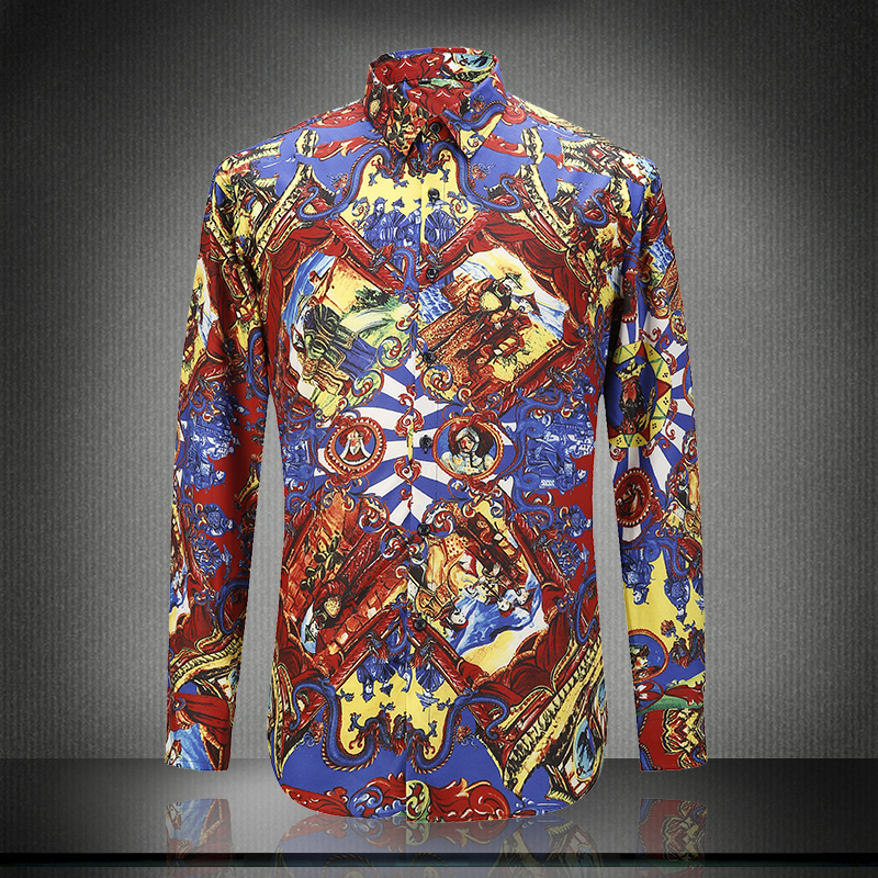 2017 baroque shirt mens clothes chemise homme marque luxe for Baroque design clothes
