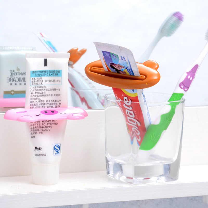 มัลติฟังก์ชั่นการ์ตูนบ้านน่ารักหลอดผู้ถือ Rolling Squeezer Dispenser อุปกรณ์เสริมสำหรับยาสีฟันทำความสะอาดผิวหน้า