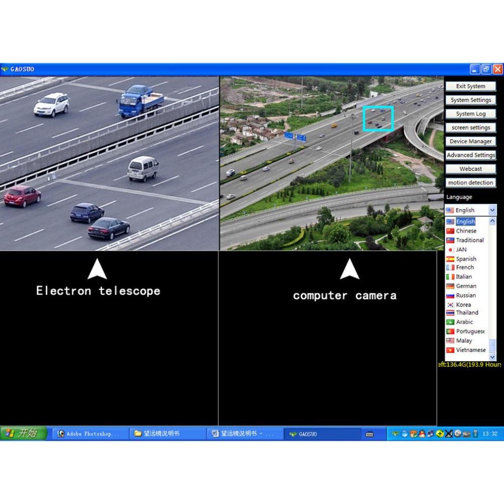 2 Megapixel 70 Vezes Lente Zoom Digital