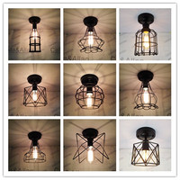 New Edison 9 Sizes Of Iron Cage Black Vintage Ancient Ceiling Lamp Bulb Light Fitting Cage