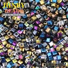 Austrian Crystal Beads Bracelet-Making Plating-Glass Square-Shape DIY Jewelry 100pcs