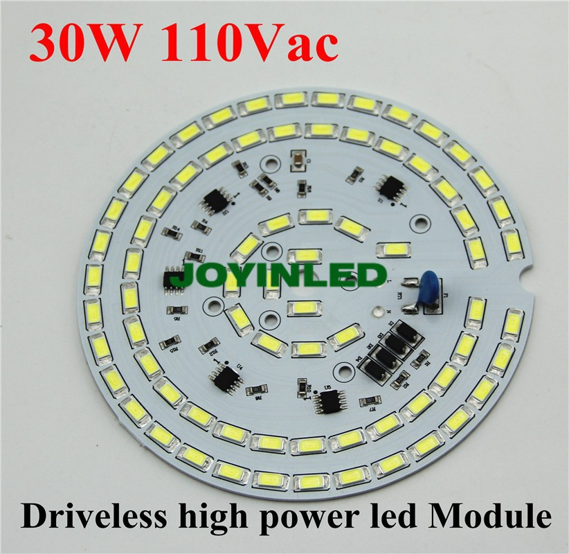 LED bulb lamps module Dimmable high bay light 30W 110VAC 2700lm integrated Driver 5730 led Driverless PCB assembly downlights 5pcs 100w high bay light pcb panel dimmable smd5730 aluminum plate ac 220v directly driverless integrated driver