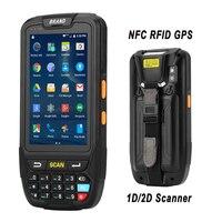 Портативный терминал PDA 2D с поддержкой Wi-Fi  Bluetooth  4g  GPS  мини-сканер штрих-кодов для Android  планшетных ПК  клавиатуры  NFC  HF  LF  RFID