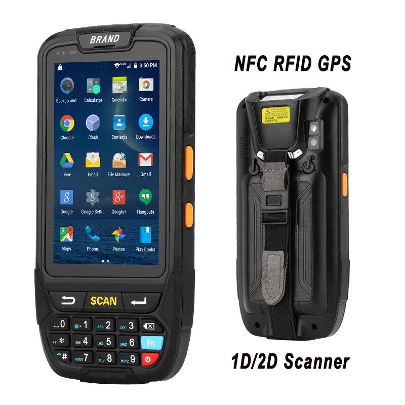 PDA 2D Terminale Portatile di Sostegno Wifi Bluetooth 4g della Macchina Fotografica di GPS Mini Scanner di Codici A Barre Per Android Tablet Pc Tastiera NFC HF LF RFID