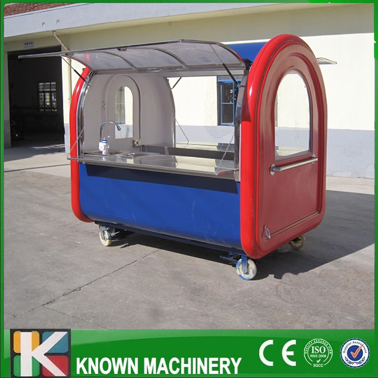 220E mobile food carts/trailer/ ice cream truck/snack food carts customized for sale multifunctional mobile food trailer cart fast food kitchen concession trailer