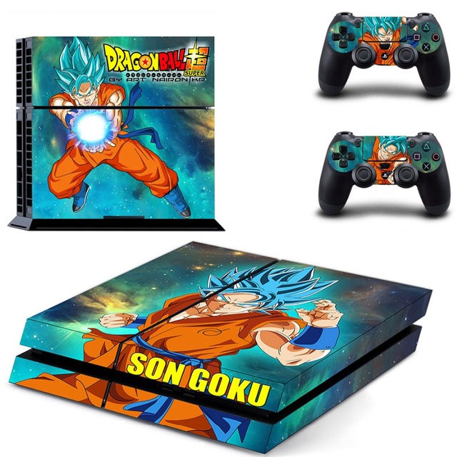 Dragon Ball:Son Goku Video Game PS4 Skins For play station 4 Sticker Decal Cover + 2 Controller Sticker ps4