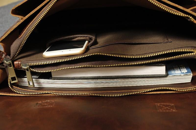 Vintage Men Business Real Genuine Leather Briefcase Travel Causal Shoulder Messenger Portfolio Laptop Bags Lawer Handbag Bolsa (19)
