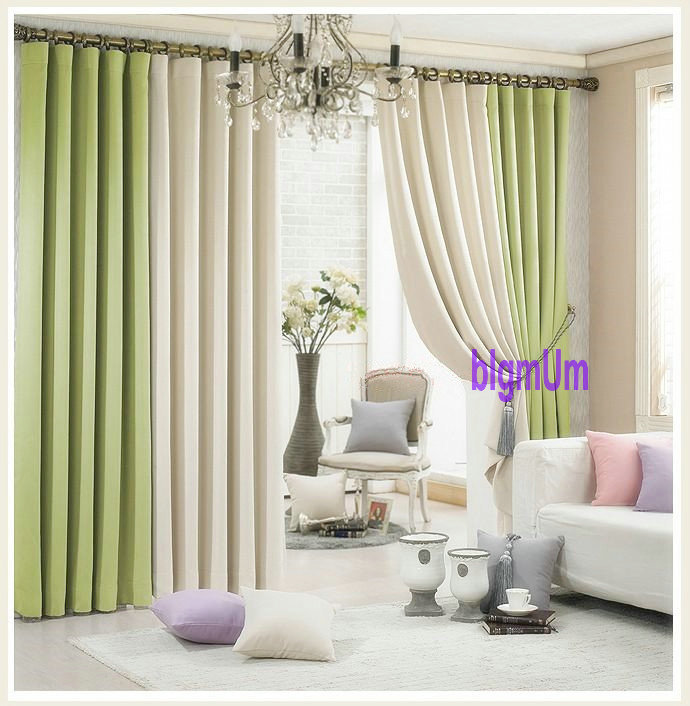 Aliexpress Buy New Arrival Window Curtains For Living Room Voile Sheer 2 Colors Combined Blackout Shade Summer Style Home Trimming From