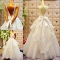 Luxos 2017 new elegante vestido de baile lace beads backless branco evening dress formal longo mulheres prom vestidos
