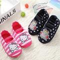 2016 new brand Kids fashion Slippers Boys Girls Indoor Bedroom Warm Cotton Slipper children cute Animal Cartoon Cat Pattern shoe