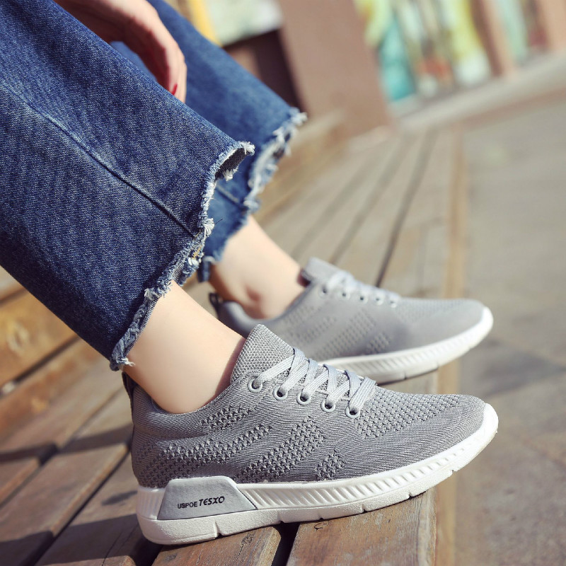 Koznoy Sneakers Women Korean Spring Fashion Dropshipping Belt Leisure Comfortable Air Breathing Students Flat Bottom Women Shoes in Women 39 s Flats from Shoes