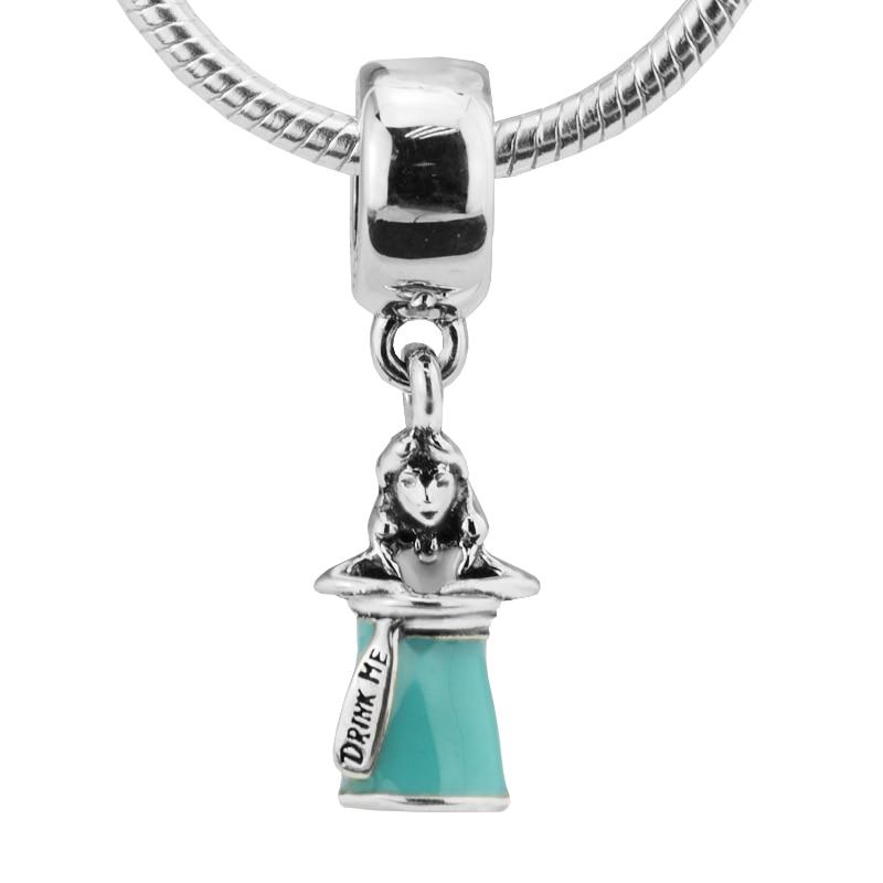 Sterling Silver 3D Baby Bottle Dangle Charm Bead For Bead Charm Bracelet