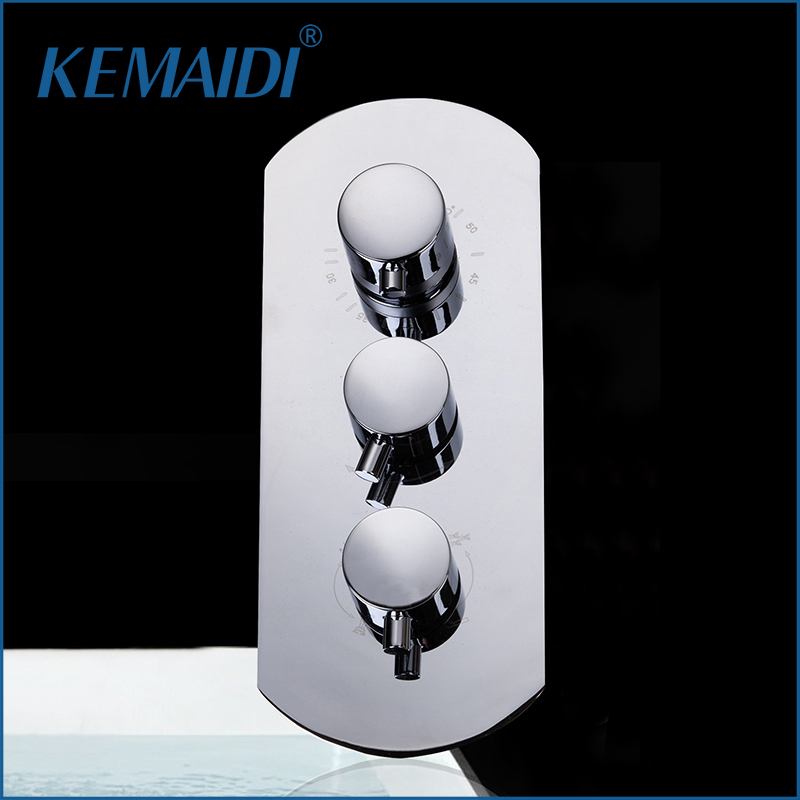 KEMAIDI Shower Mixing Valve Mixer Bathroom Bath Shower Faucet Mixer Valve Wall Mounted Faucets Thermostatic Shower Faucets Valve все цены