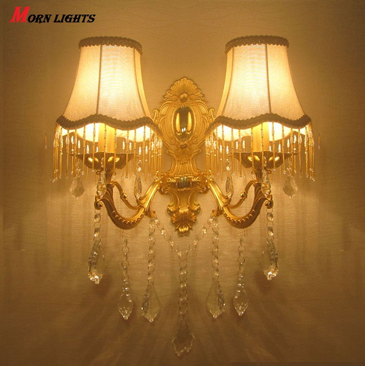 Free Shipping Modern Crystal wall light fashion wall bracket crystal k9 Golden Modern wall lamps crystal