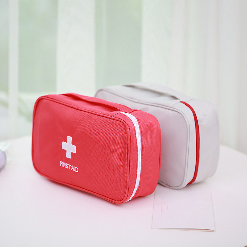 Portable First Aid Kit Emergency Bag Waterproof Car Kits Bag Outdoor Travel Survival Kit Empty Bag 23*13*7.5cm