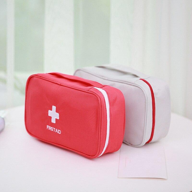 Portable First Aid Kit Emergency Medical Bag Waterproof Car Kits Bag Outdoor Travel Survival Kit Empty Bag 23*13*7.5cm