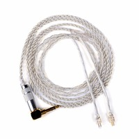 DIY Upgrade Headphone Hand Woven Extension Jack Cables Double For Westone W4r Um3x Es3 Plated Silver