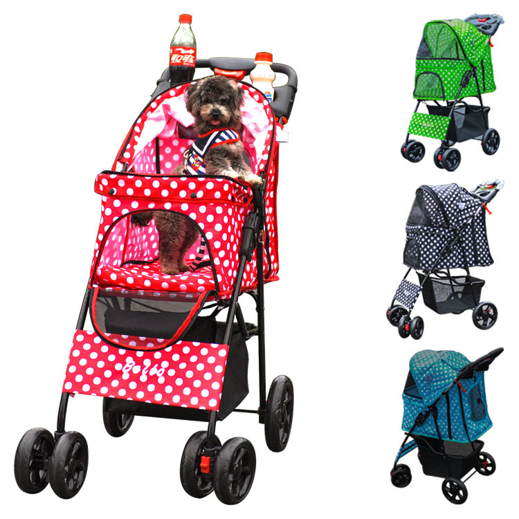 Y261 Dog Bag Four Wheel Pet Stroller, For Cat, Dog ...