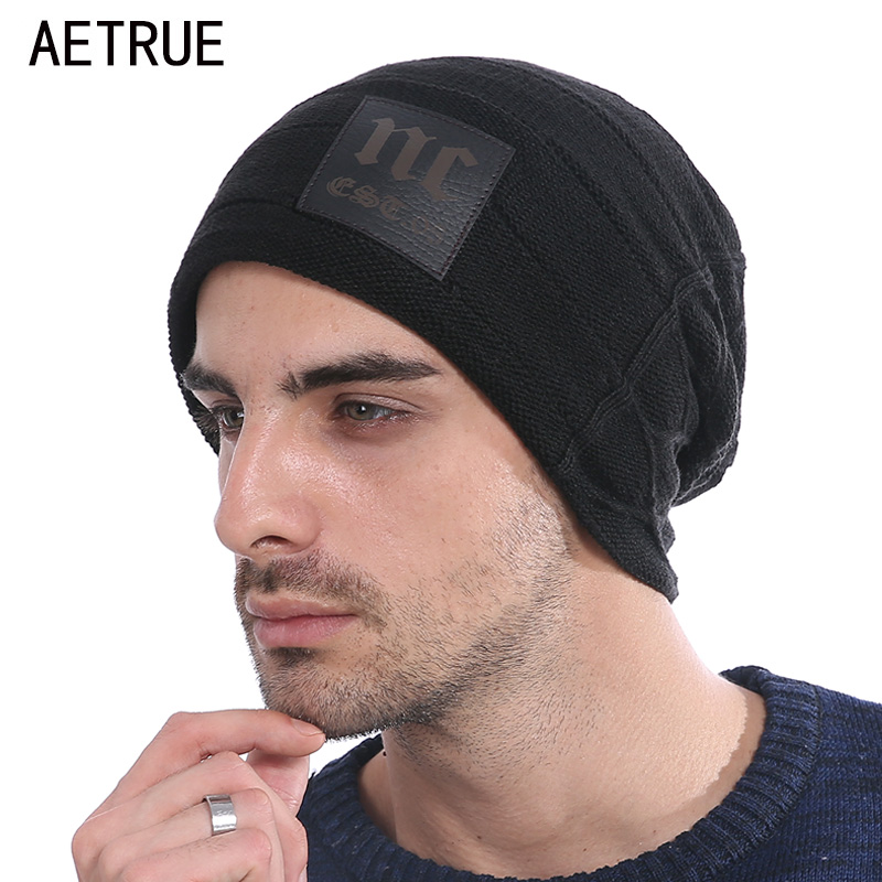 Fashion Brand Knitted Hat Winter Hats   Beanies   For Men Women Winter   Skullies     Beanies   Men Caps Gorras Bonnet Warm Baggy Cap Hat