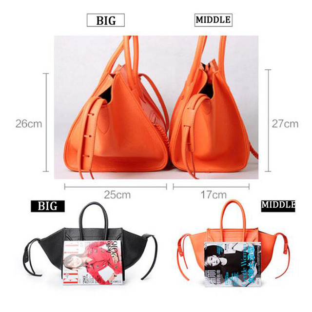 New Famous Designer Brand Luxury Women Leather Handbags Fashion Smile Face Tote Quality Trapeze Smiley Clutches Bolsa Feminina
