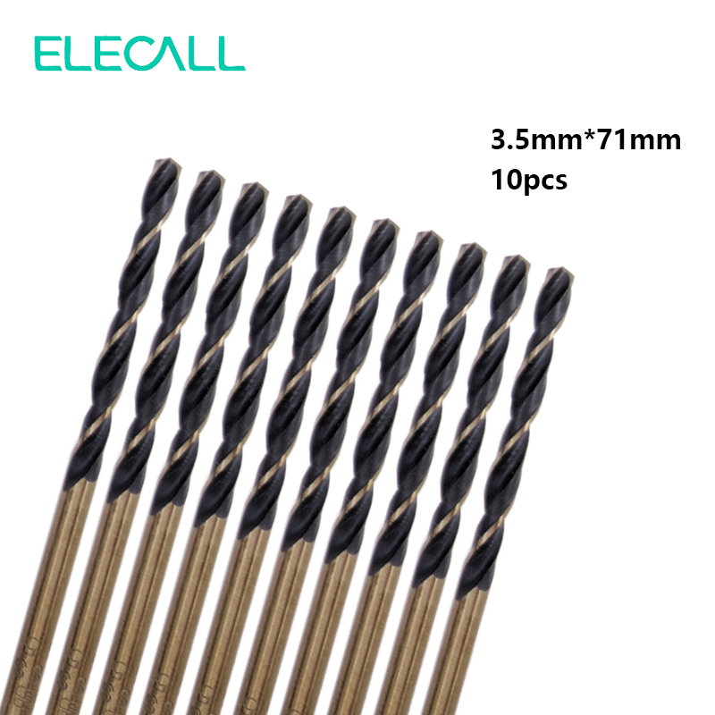 New 10pcs/set Micro HSS 3.5mm Straight Shank High Speed Steel Twist Drill Bit Woodworking  Tool For Metal 13pcs lot hss high speed steel drill bit set 1 4 hex shank 1 5 6 5mm free shipping hss twist drill bits set for power tools
