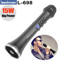 Lewinner L-698 Wireless Karaoke Microphone Bluetooth Speaker 2-in-1 Handheld Sing & Recording Portable KTV Player for iOS/Androi