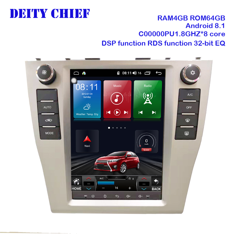 Android Multimedia Player for Toyota Camry 2006 2012 radio GPS Navigation