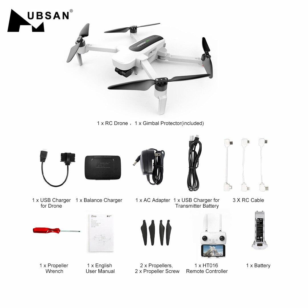 Квадрокоптер Hubsan H117S Zino FPV дрон с дистанционным управлением с 4K UHD GPS