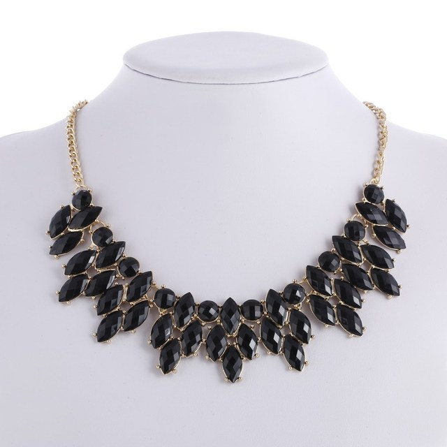 Chunky chokers necklaces wedding women gold black acrylic pendants chunky chokers necklaces wedding women gold black acrylic pendants necklace koyle jewelry christmas gifts mozeypictures Choice Image