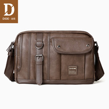 DIDE Vintage Brand Leather Men Bag Casual Business Mens Messenger Fashion Crossbody designer waterproof
